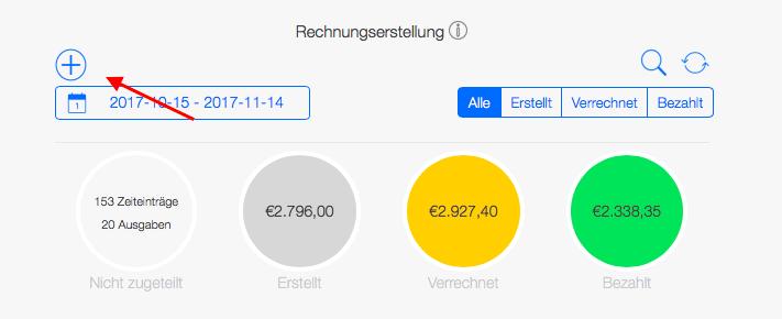 Reisekostenabrechnung - Rechnungsübersicht