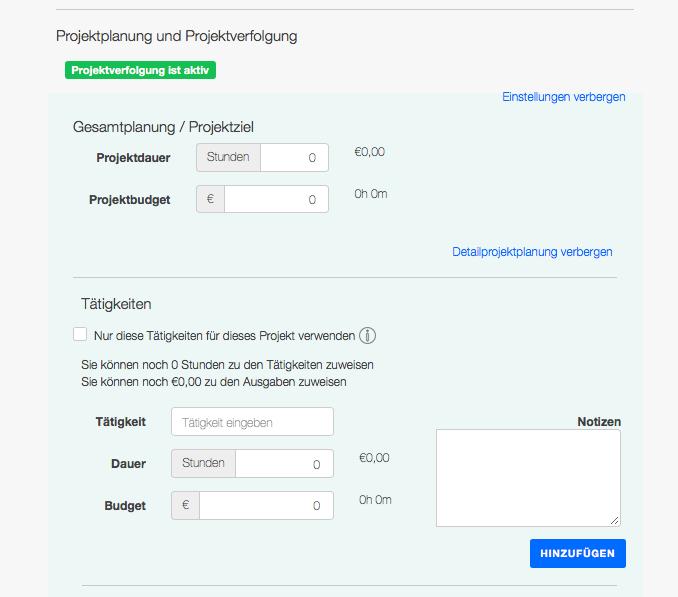 Projektcontrolling - Detailprojektplanung, Projektdauer und Projektbudget