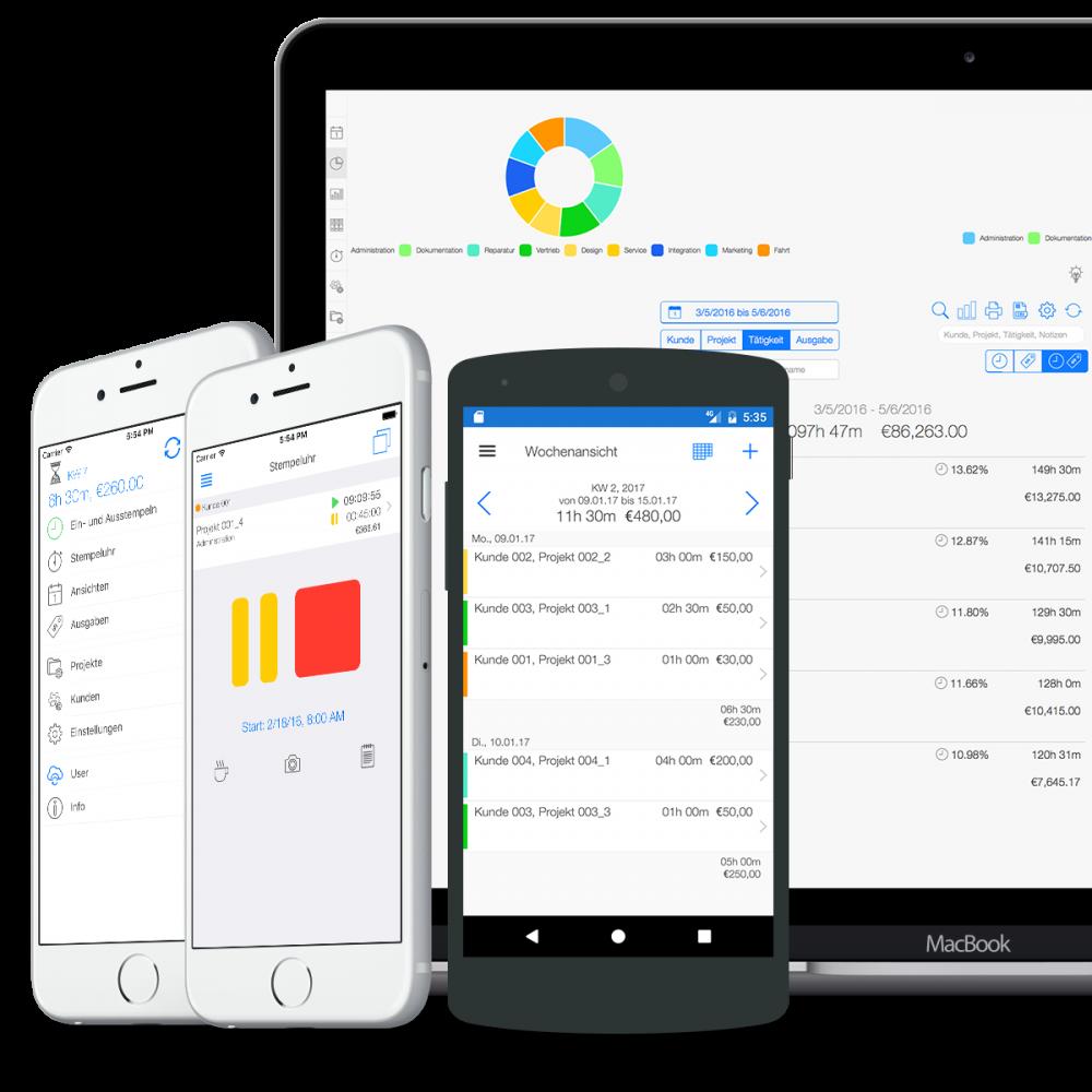 Projektzeiterfassung - Online und Mobile