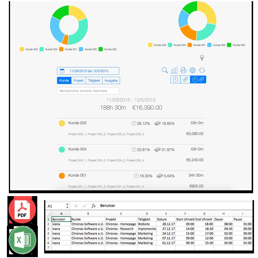 Zeiterfassung - Datenexport