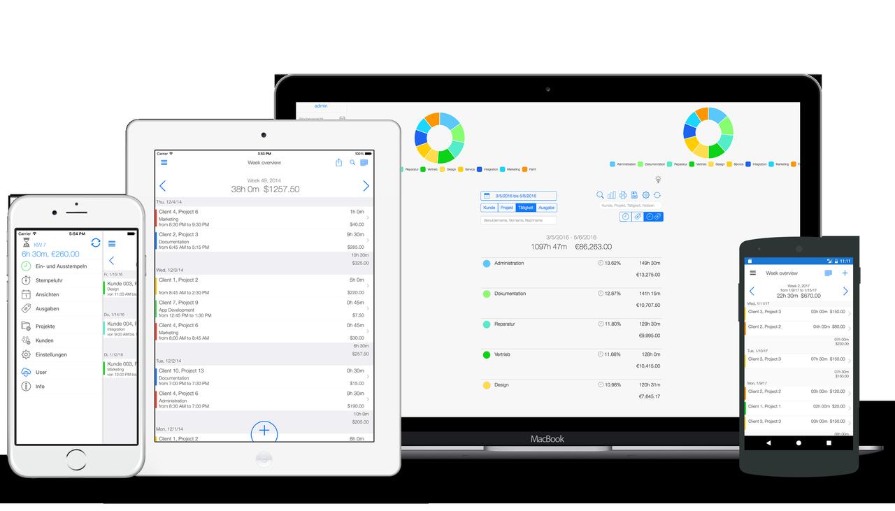 Arbeitszeiterfassung - Online und Mobil
