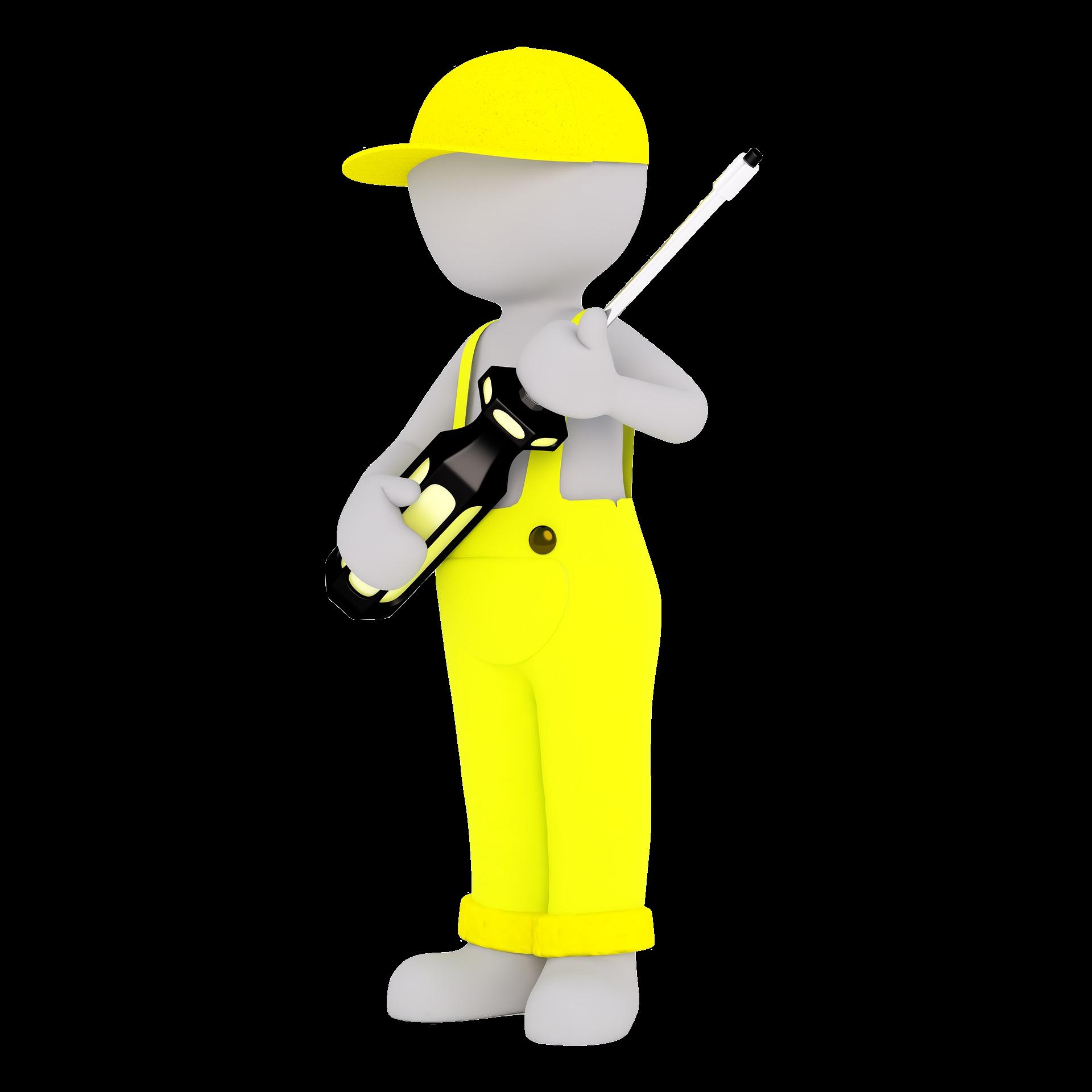 Zeiterfassung für Handwerker - 3D Man Handwerker
