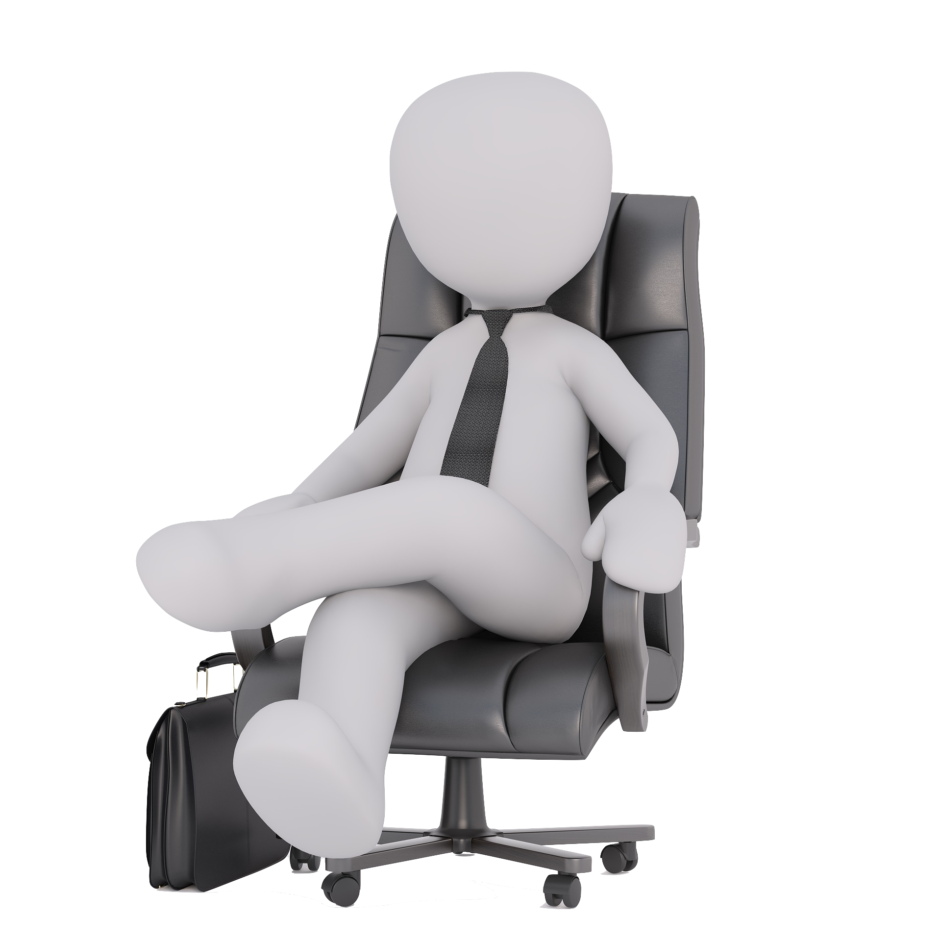 Zeiterfassung im Büro - 3D Man
