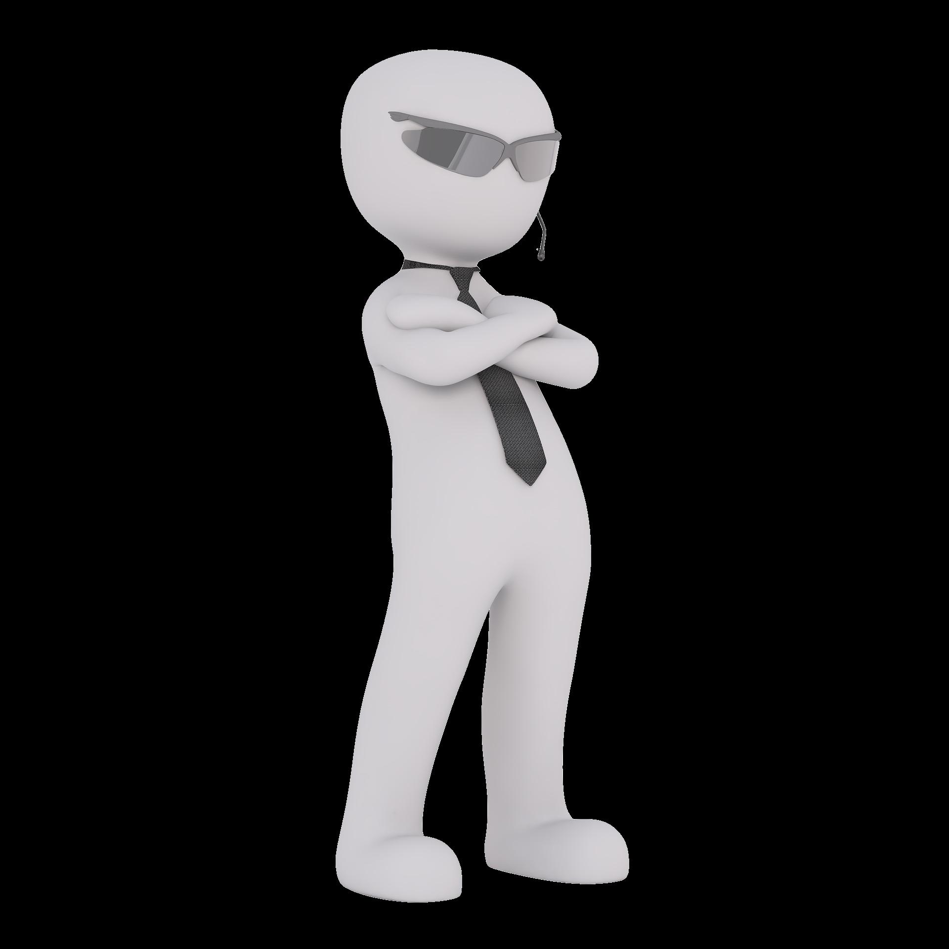 Zeiterfassung für Sicherheitsdienste - 3D Man Security