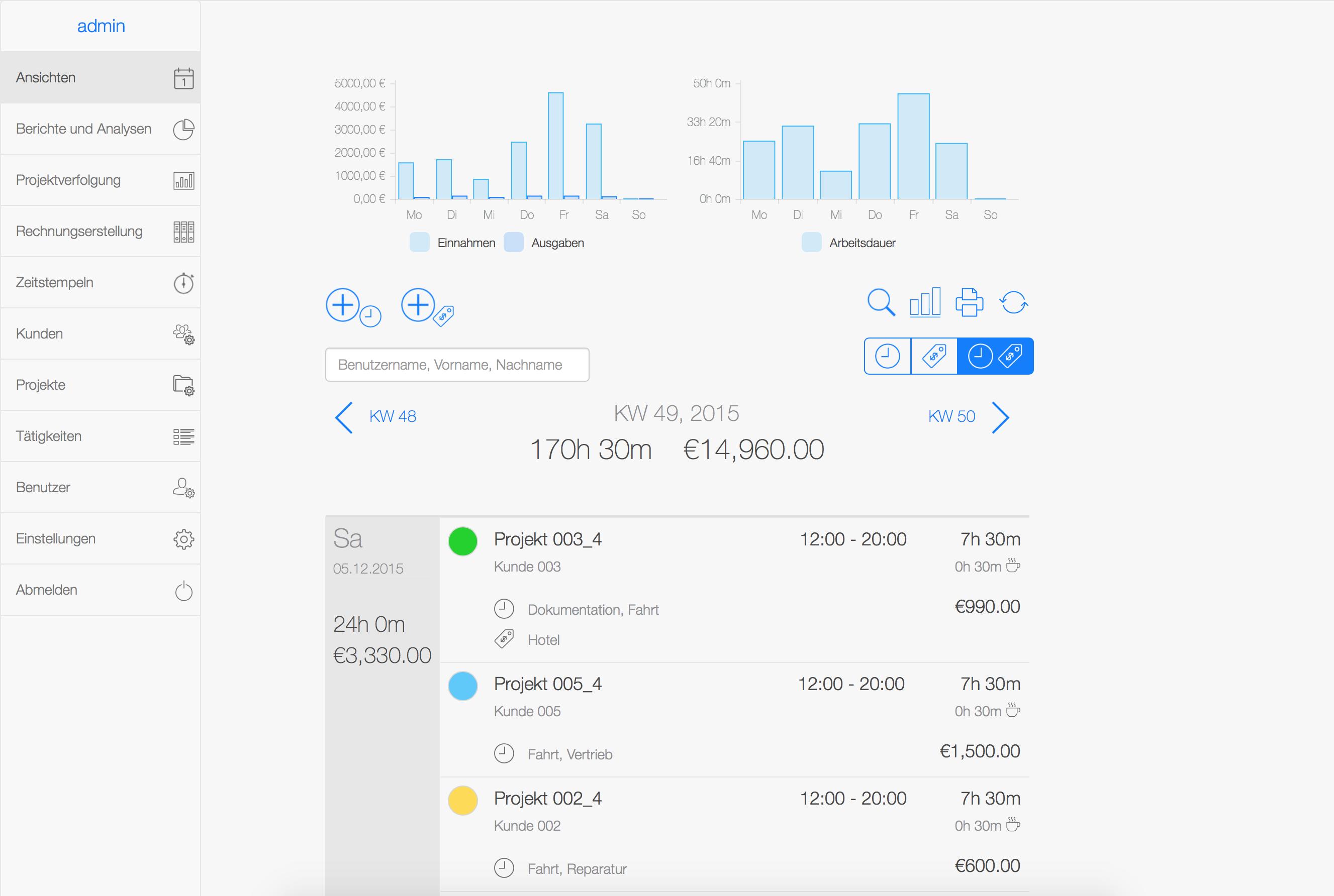 Zeiterfassungssystem - Web App