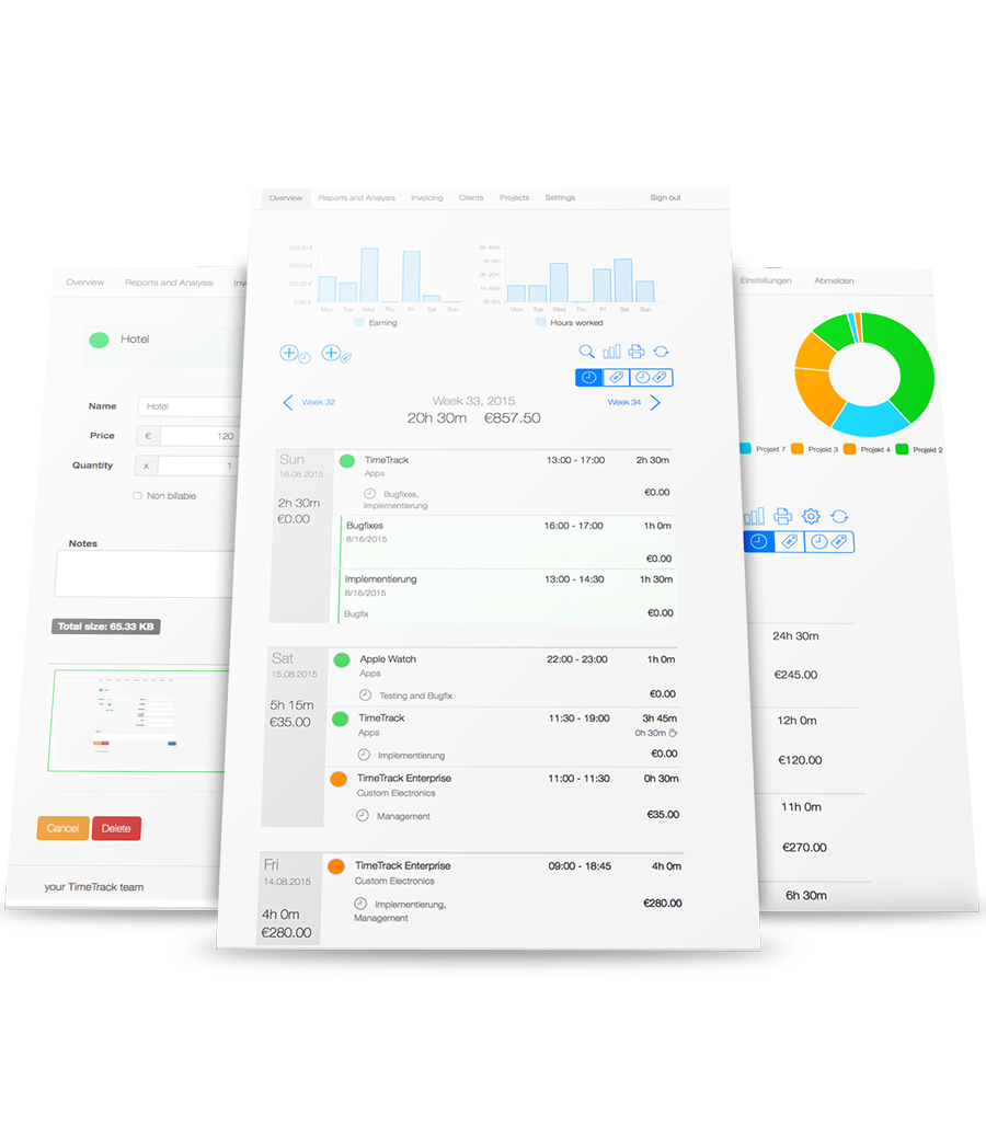 Employee Time Tracking - Overview reports