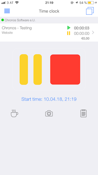Project time tracking - Mobile time clock