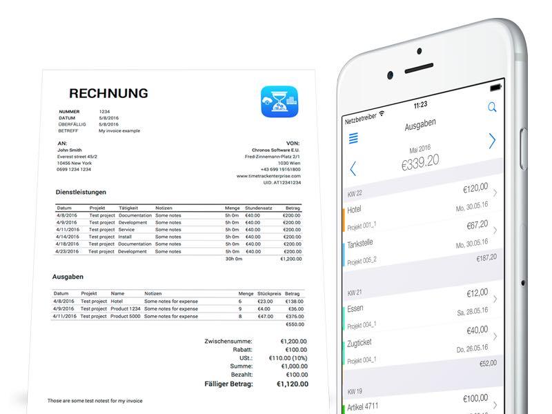 Zeiterfassung App - Abrechnung