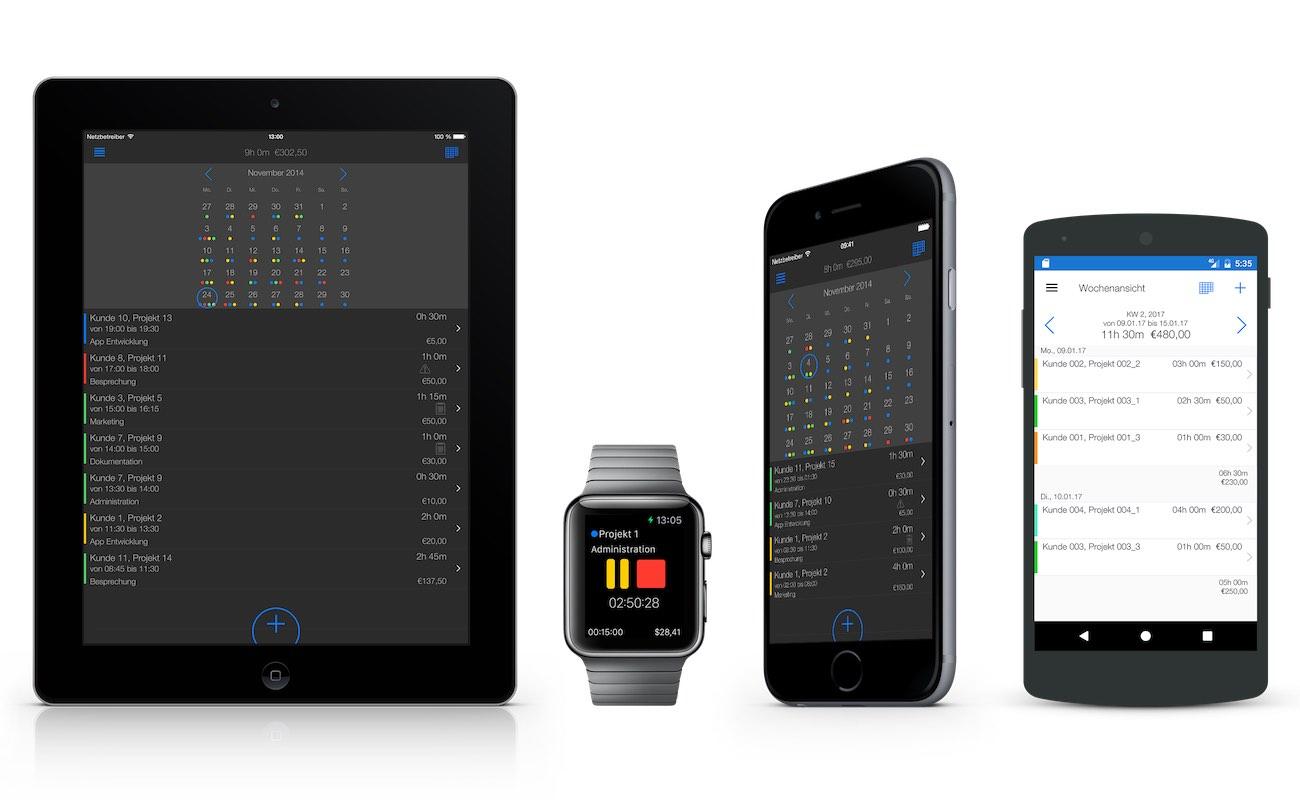 Zeiterfassung App - Unterwegs