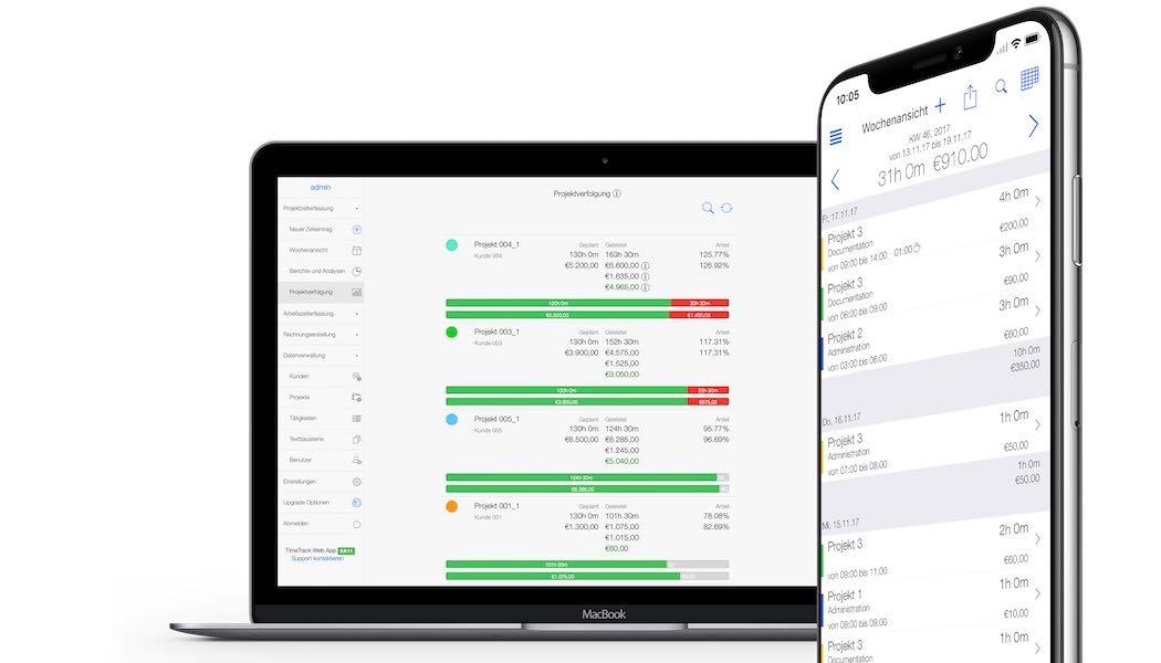 Zeiterfassung App - Projektcontrolling
