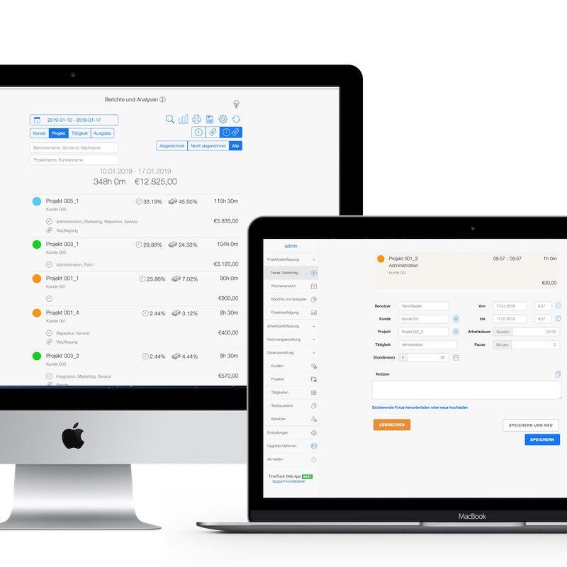 Zeiterfassung App - Online Web App
