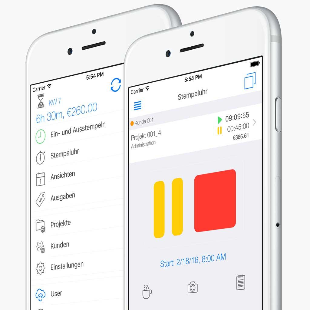 Mobile Zeiterfassung App - Stempeluhr für unterwegs