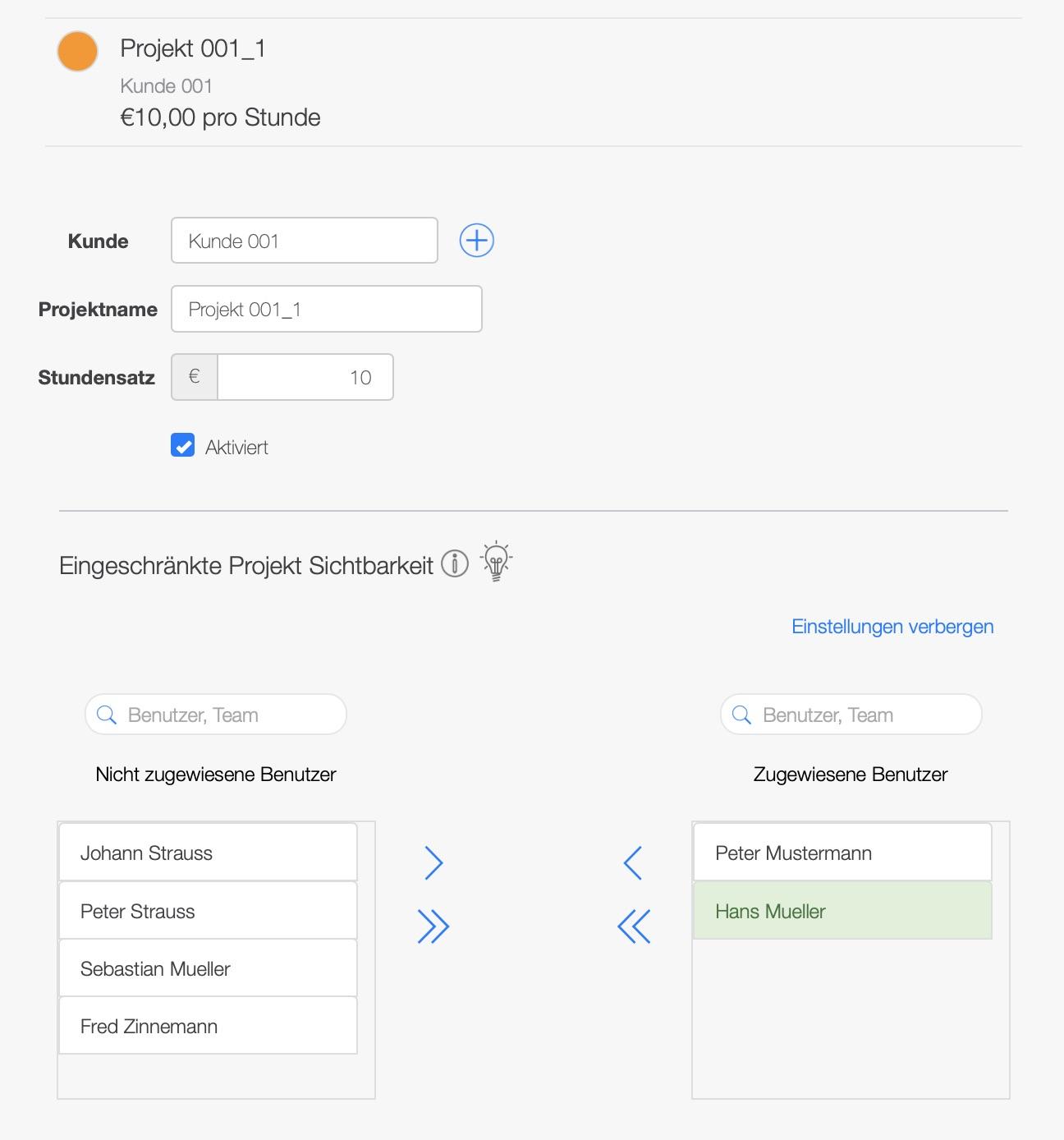 Zeiterfassungssystem - Projektplanung per Projektmanagement Software