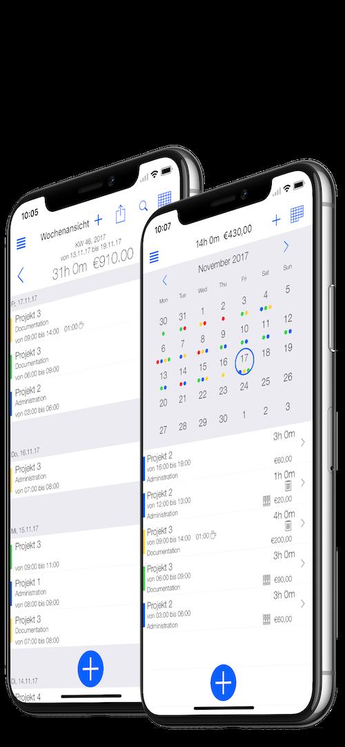 TimeTrack Produkte - Pro Version Übersicht