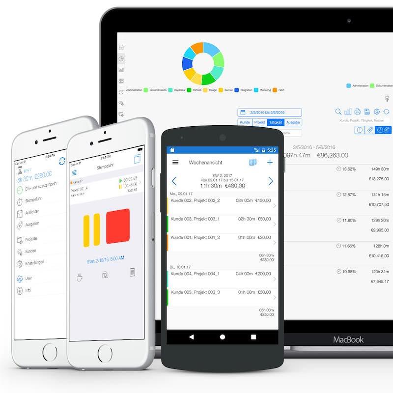 Zeiterfassung App - Projektzeiterfassung App