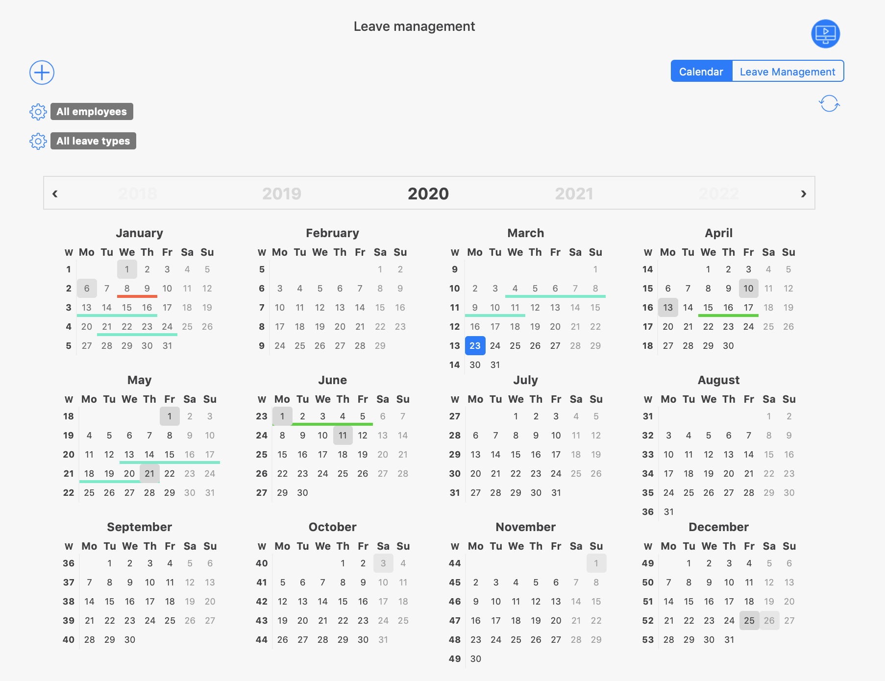 Attendance_Tracking_Holiday_calendar