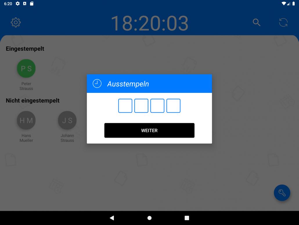 Terminal App - Pin Code
